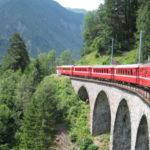 スイス ベルニナ特急 クールからティラノまで