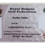 ベルギー(ヨーロッパ)のゴルフシステム
